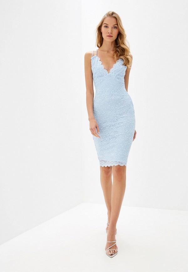 Фото 2 - женское вечернее платье City Goddess голубого цвета