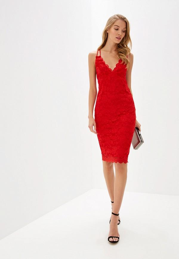 Фото 2 - женское вечернее платье City Goddess красного цвета