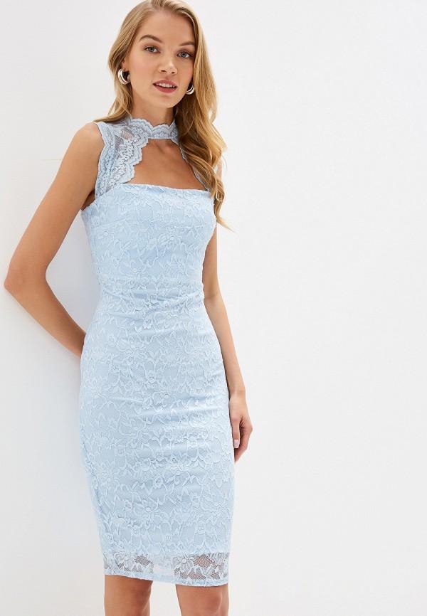 Фото - женское вечернее платье City Goddess голубого цвета