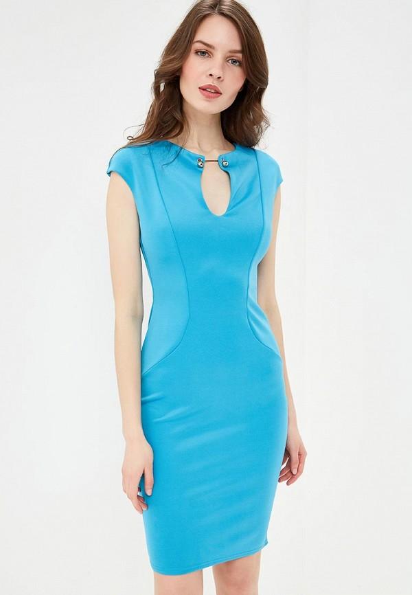 женское повседневные платье city goddess, голубое