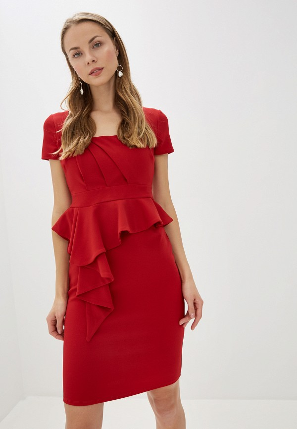 женское вечерние платье city goddess, красное