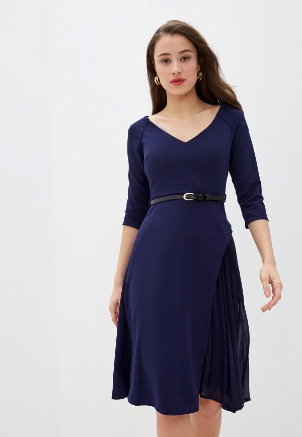 женское повседневные платье city goddess, синее