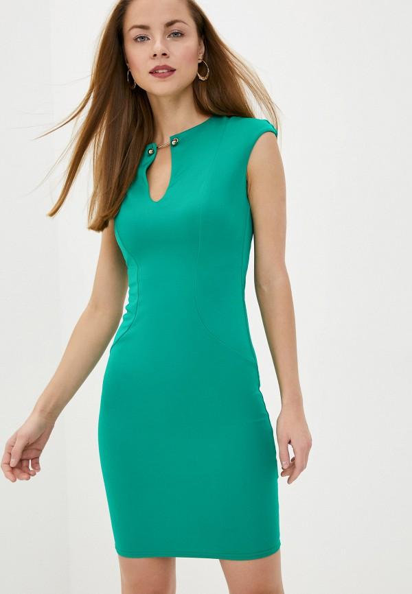 женское платье-футляр city goddess, зеленое