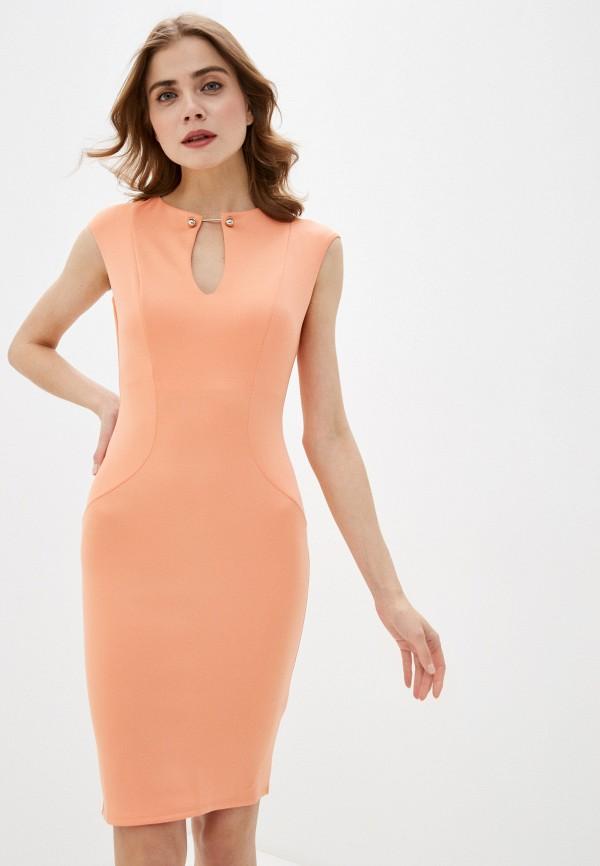 женское вечерние платье city goddess, оранжевое