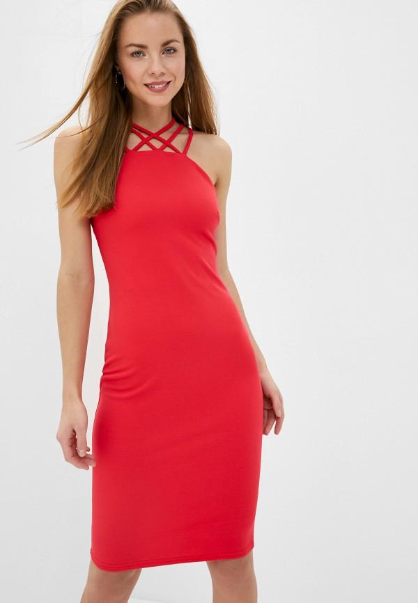 женское платье-футляр city goddess, розовое