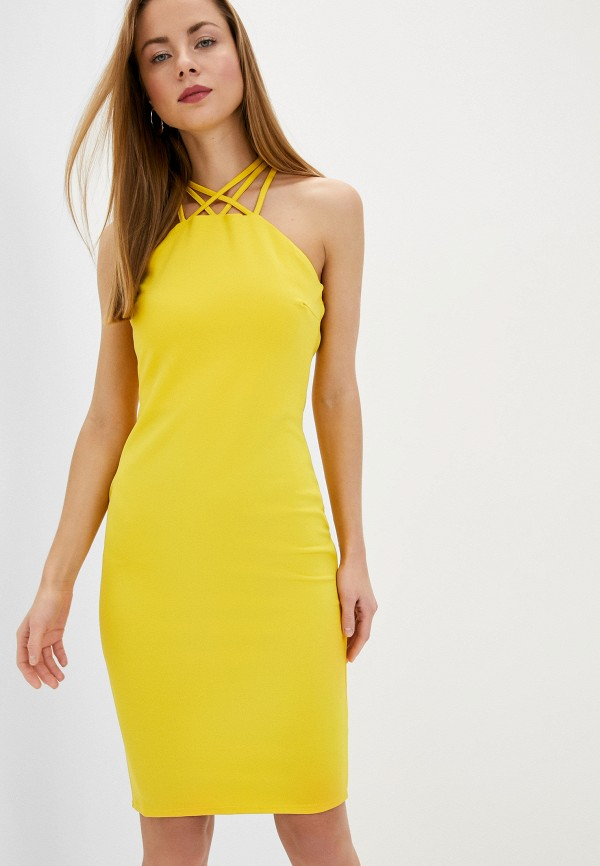 женское повседневные платье city goddess, желтое