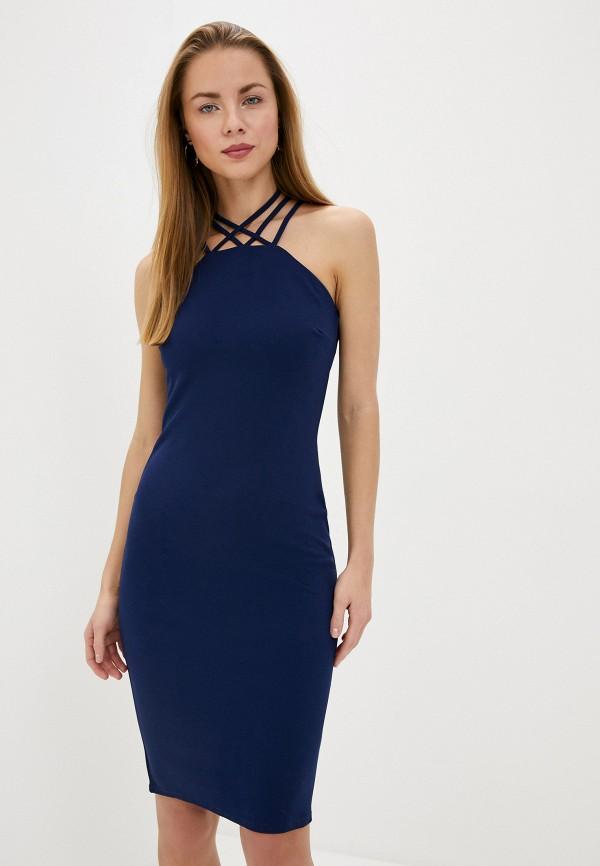 женское вечерние платье city goddess, синее