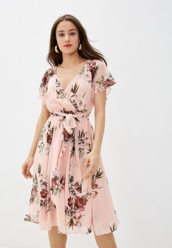 женское повседневные платье city goddess, розовое