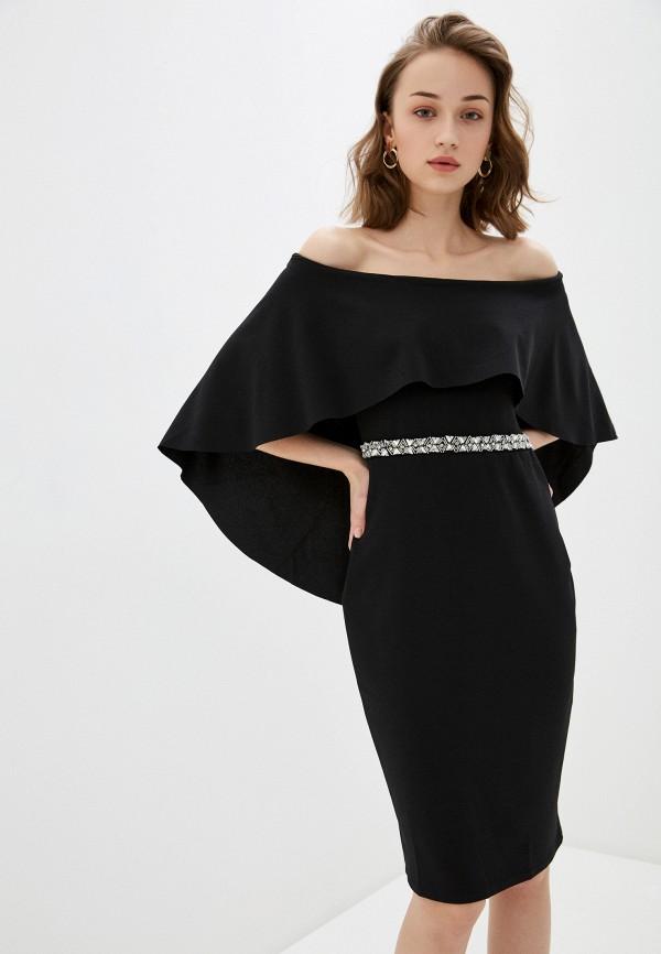 женское вечерние платье city goddess, черное