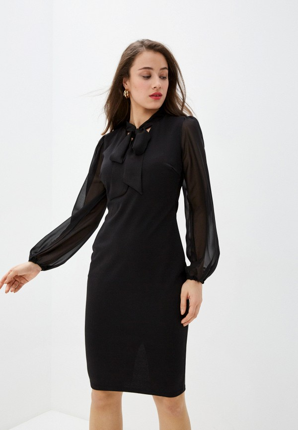 женское платье-футляр city goddess, черное