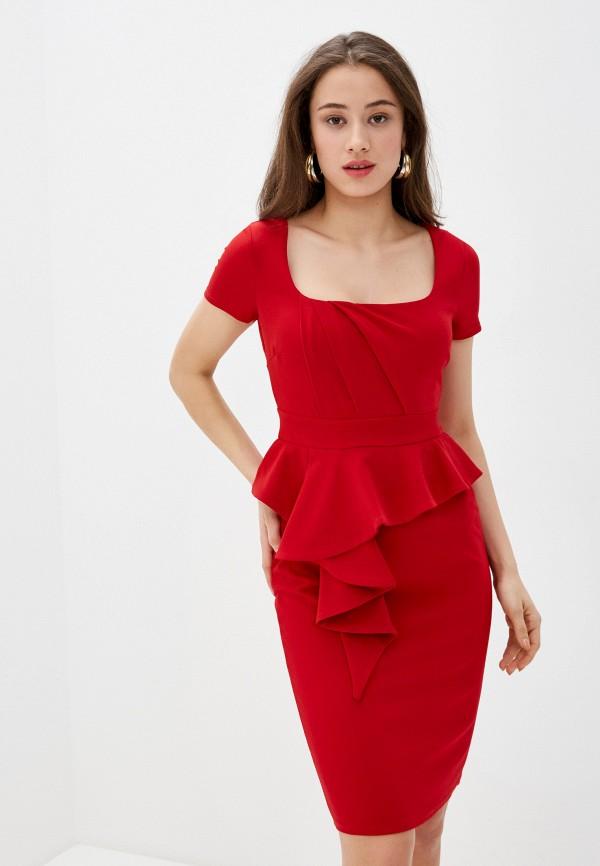женское повседневные платье city goddess, красное