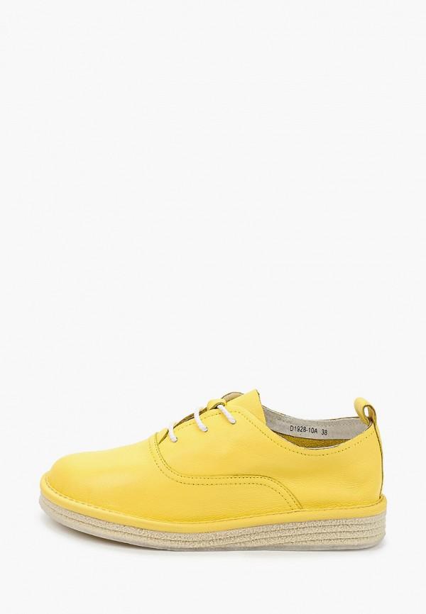 женские ботинки city sign, желтые
