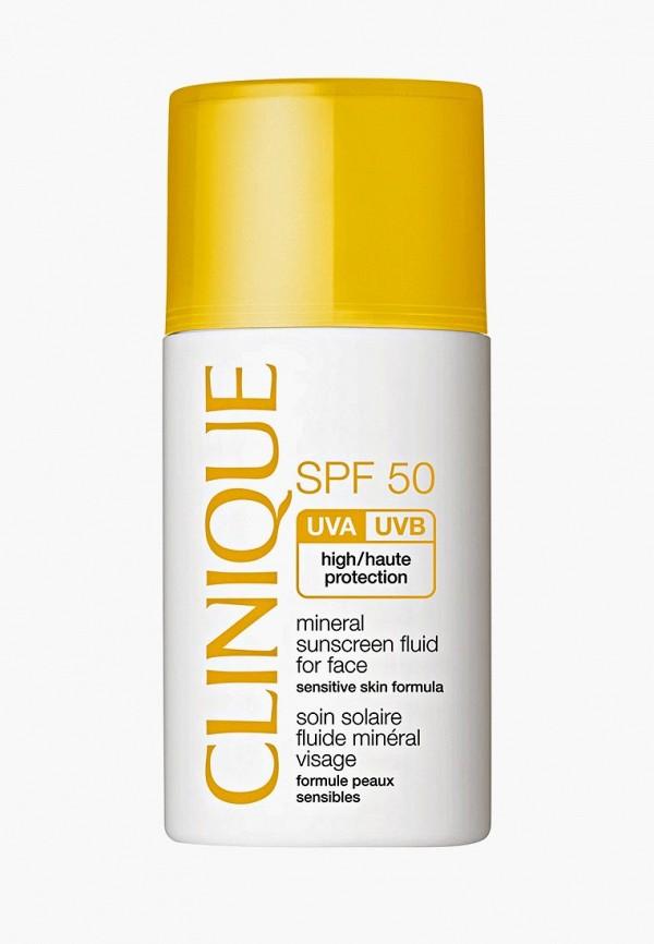 Купить Сыворотка для лица Clinique, Солнцезащитная минеральная Mineral Sunscreen Fluid For Face SPF 50, cl007lwfmns0, белый, Весна-лето 2019