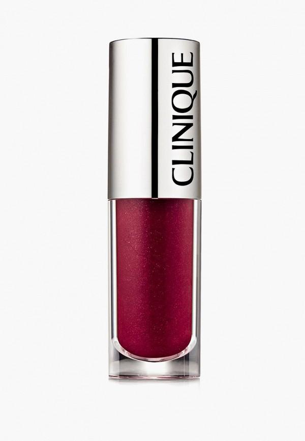 женский блеск для губ clinique, бордовый