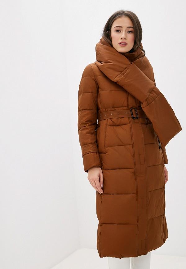женская куртка clasna, коричневая