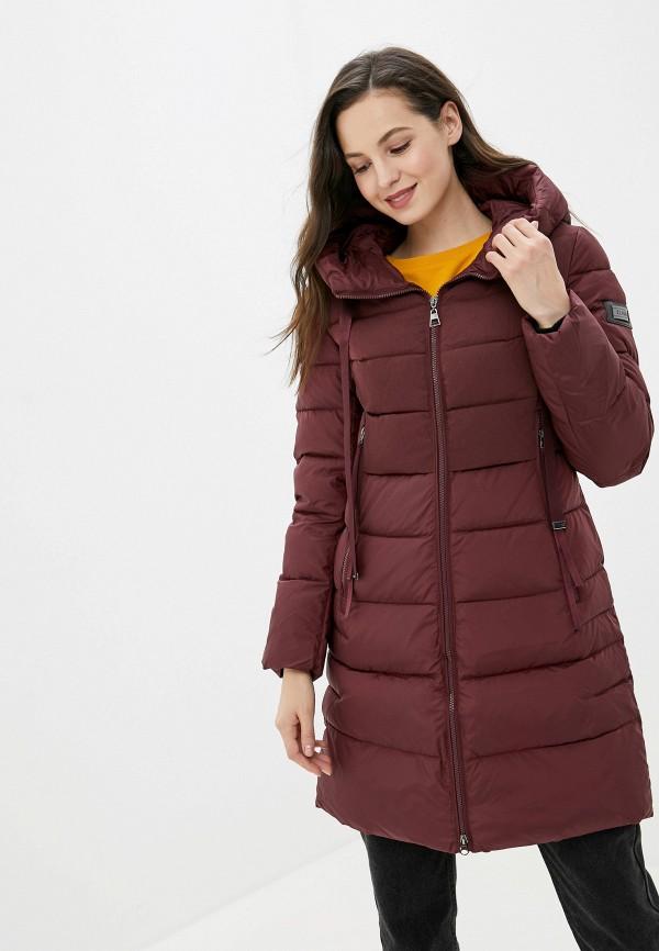 женская куртка clasna, бордовая