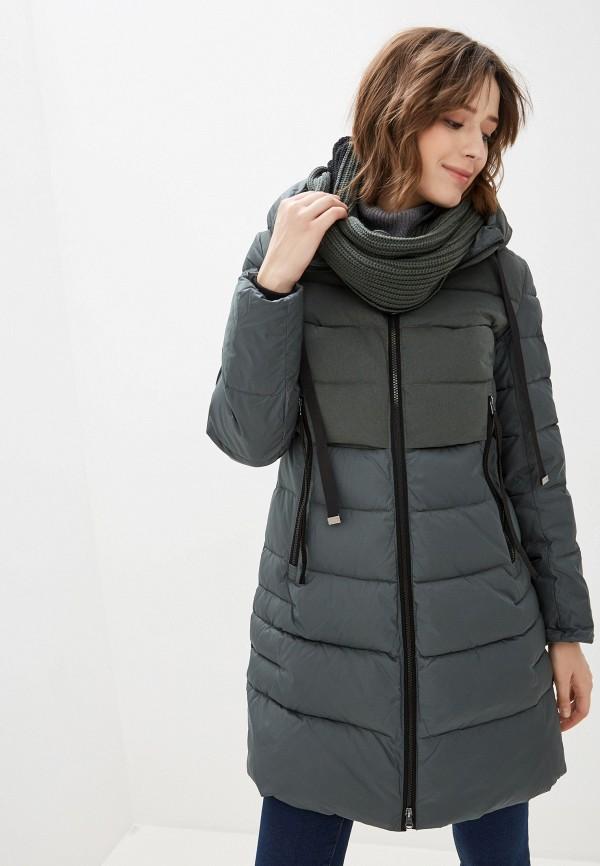 женская куртка clasna, зеленая
