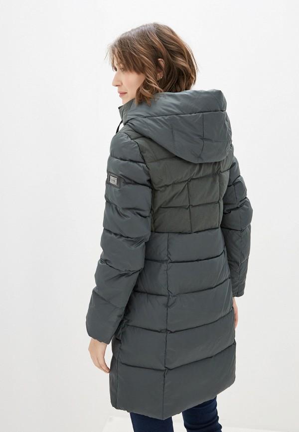 Фото 3 - Куртку утепленная Clasna зеленого цвета