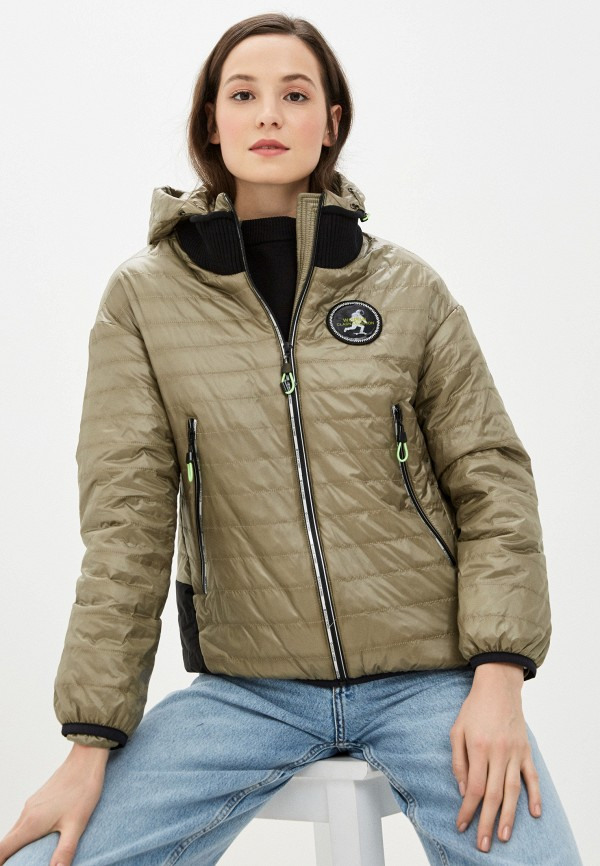 женская куртка clasna, хаки