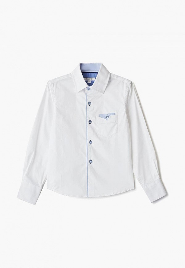 рубашка cleverly для мальчика, белая