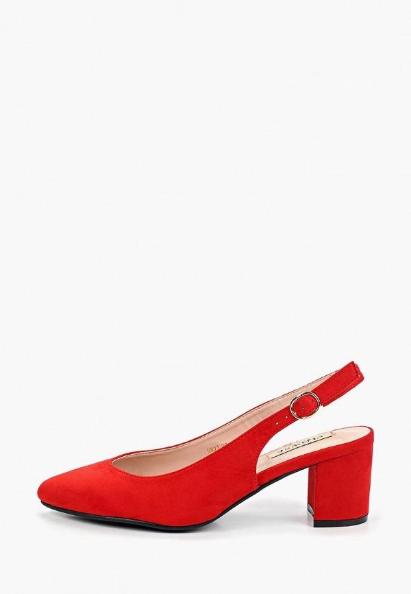 женские туфли clowse, красные