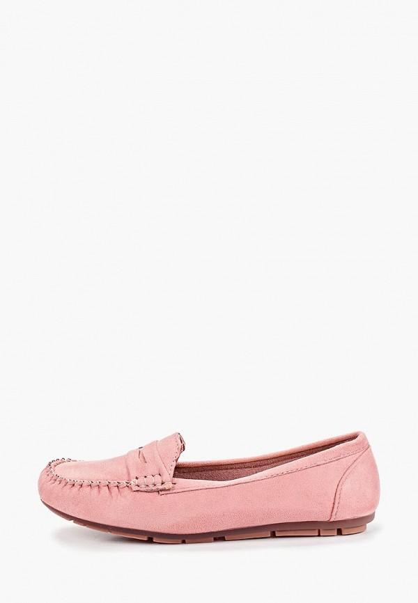 женские мокасины clowse, розовые
