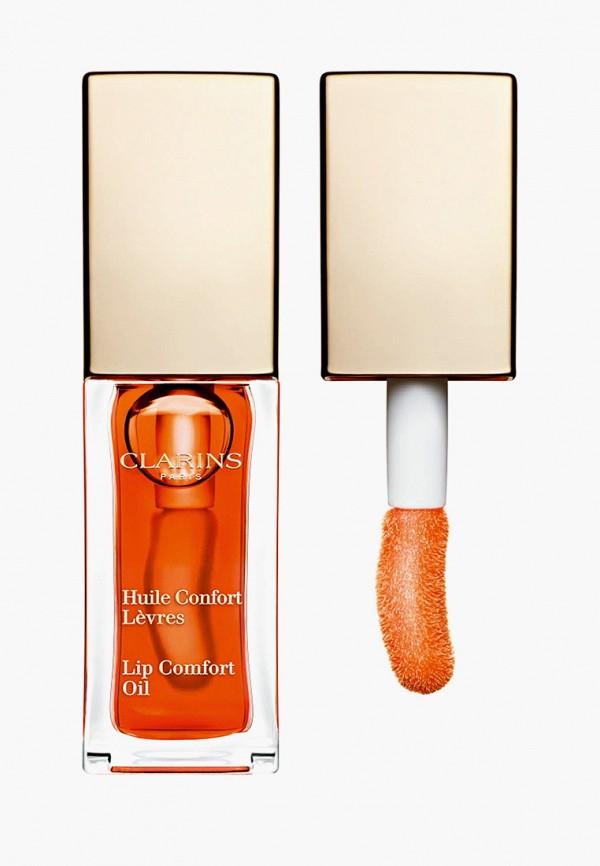 женский блеск для губ clarins, оранжевый