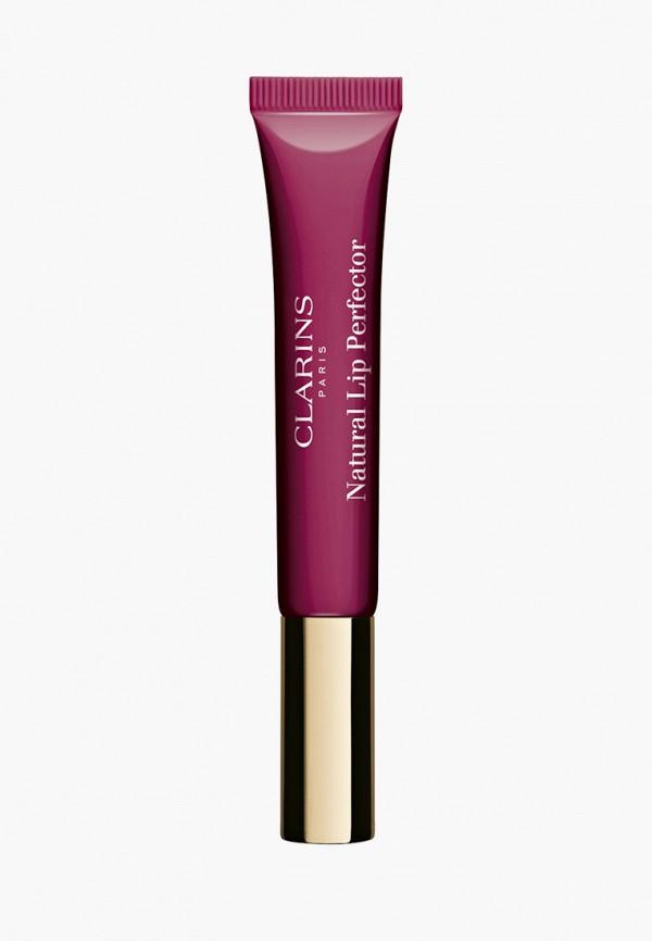 женский блеск для губ clarins, фиолетовый