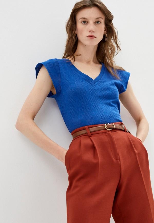 женская футболка claudie pierlot, синяя