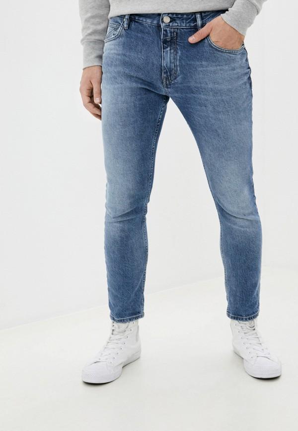 мужские зауженные джинсы closed, голубые
