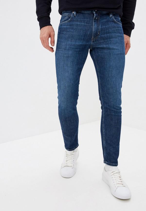 мужские зауженные джинсы closed, синие
