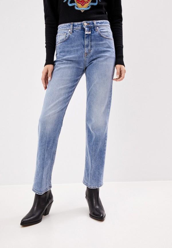 женские прямые джинсы closed, голубые