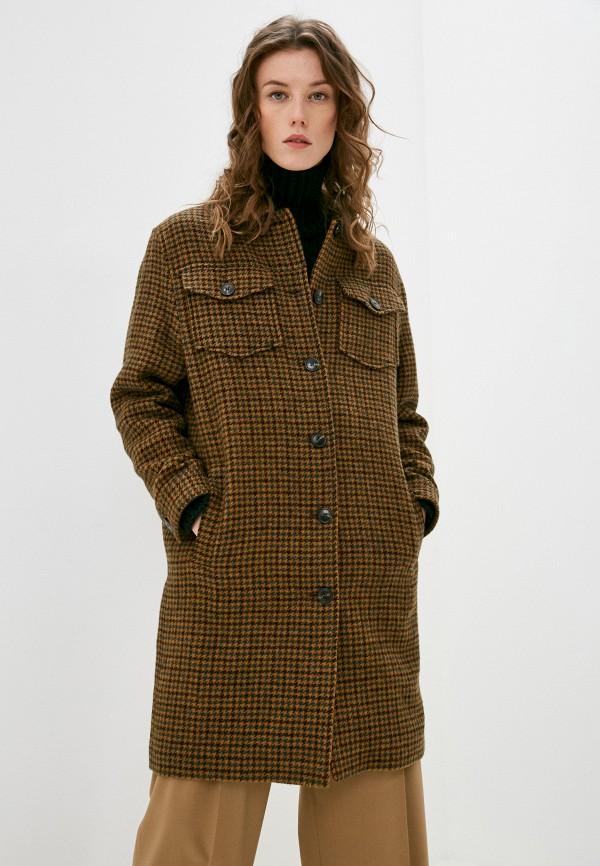 женское пальто closed, коричневое