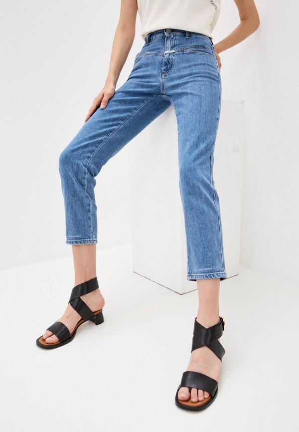 женские прямые джинсы closed, синие