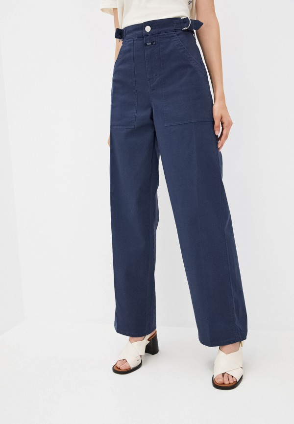 женские повседневные брюки closed, синие