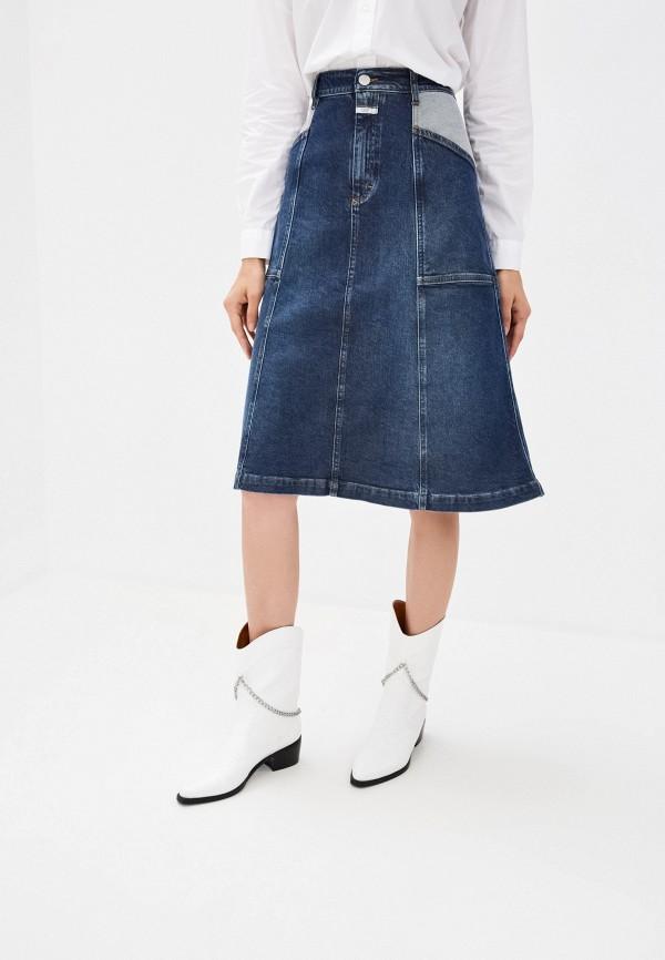 женская джинсовые юбка closed, синяя
