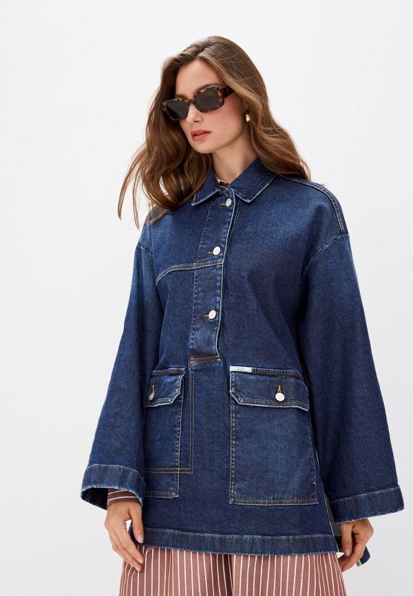 женская джинсовые куртка closed, синяя