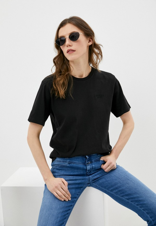 женская футболка closed, черная