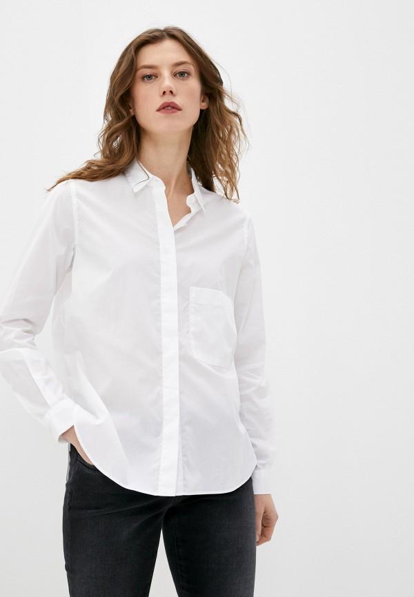 женская рубашка с длинным рукавом closed, белая