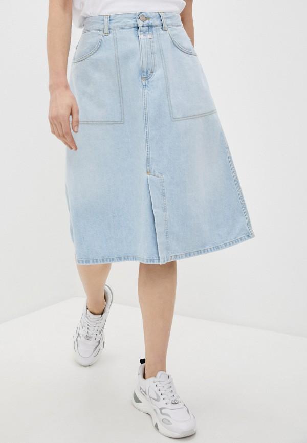 женская джинсовые юбка closed, голубая