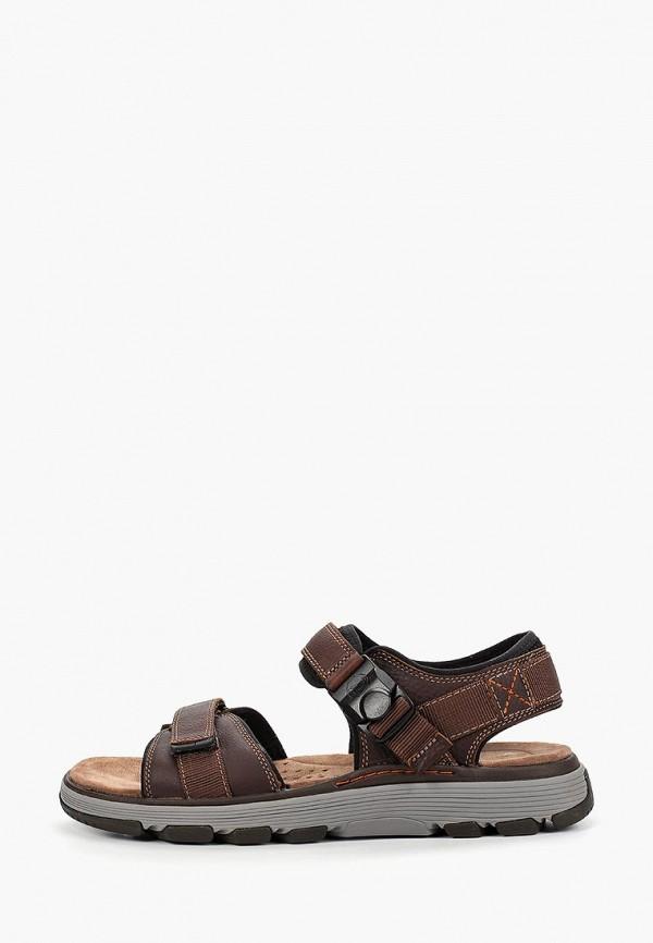 мужские сандалии clarks, коричневые
