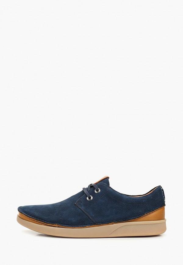 мужские туфли clarks, синие