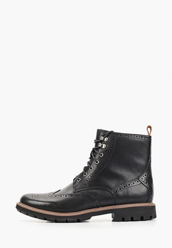 мужские высокие ботинки clarks, черные