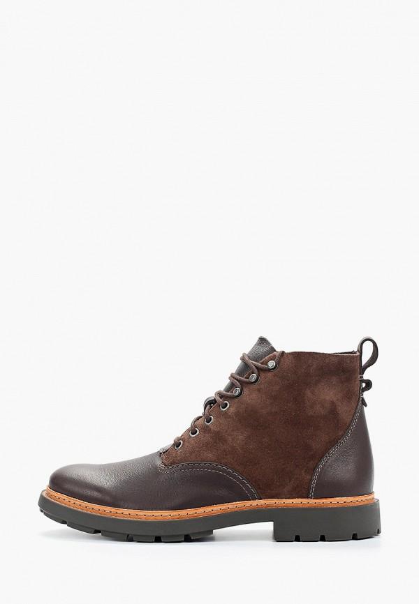 мужские высокие ботинки clarks, коричневые