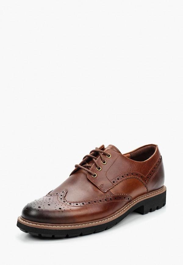 мужские туфли clarks, коричневые