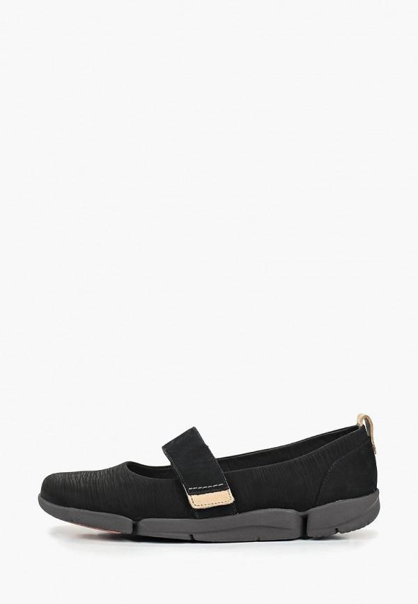 женские туфли clarks, черные