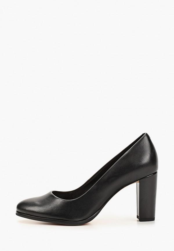 женские туфли с закрытым носом clarks, черные