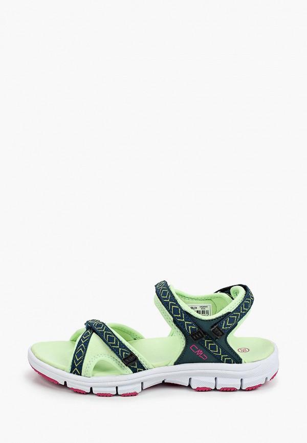 женские сандалии cmp, зеленые