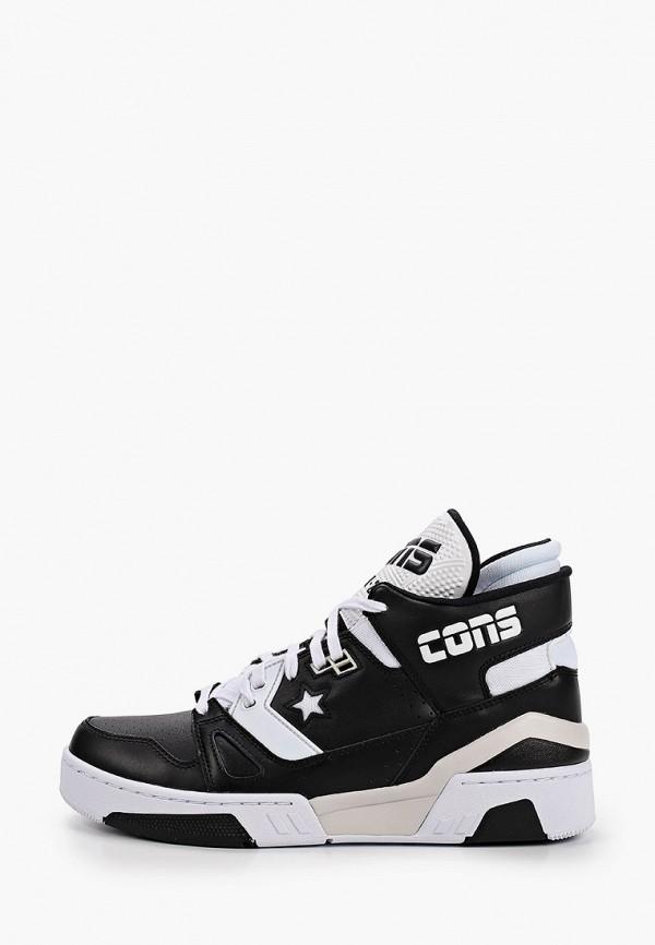 мужские высокие кроссовки converse, черные