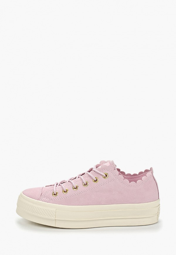 женские кеды converse, розовые